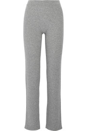 Theory Goshun ribbed cashmere-blend straight-leg pants