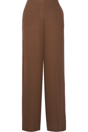 Ryeridge silk-crepe wide-leg pants