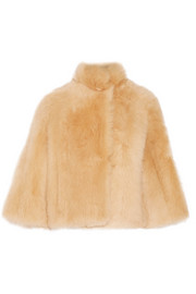 Warner cropped shearling coat