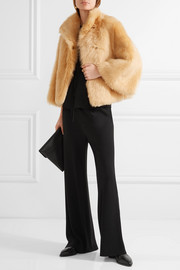 The Row Warner cropped shearling coat