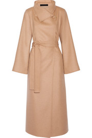 Karmen wool, cashmere and silk-blend coat
