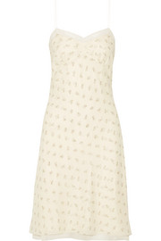 The Row Santi lace-trimmed floral-print silk-georgette dress