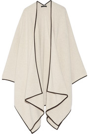 The Row Dusana suede-trimmed merino wool and cashmere-blend cape