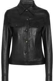 The Row Coltra bonded stretch-leather jacket