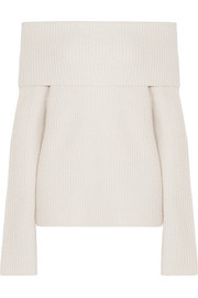 Agneta off-the-shoulder cashmere sweater