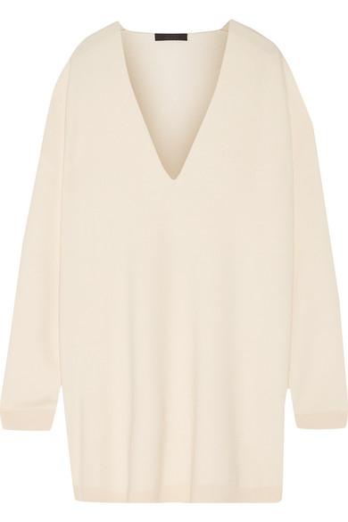 The Row - Miru Oversized Wool Sweater - Cream