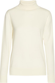 The Row Caya merino wool and cashmere-blend turtleneck sweater