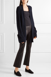 The Row Carissa ribbed cashmere and silk-blend cardigan