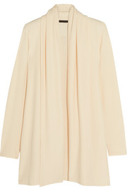 The Row Sua draped stretch-crepe cardigan