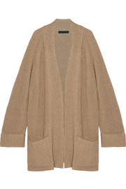Carissia oversized ribbed cashmere and silk-blend cardigan