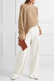 The Row Carissia oversized ribbed cashmere and silk-blend cardigan