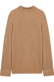 Angel oversized ribbed cashmere and silk-blend sweater