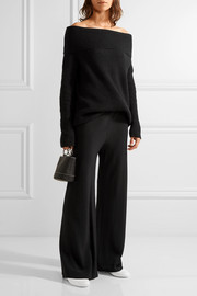 Gala stretch-cady wide-leg pants