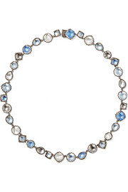 Larkspur & Hawk Sadie Rivière rhodium-dipped quartz necklace