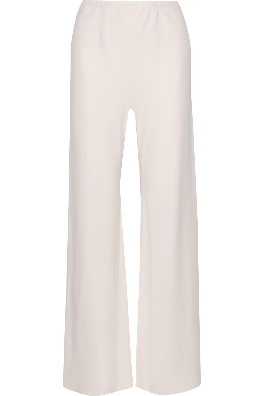 The Row Gala stretch-cady wide-leg pants