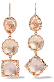Larkspur & Hawk Sadie rose gold-dipped quartz earrings