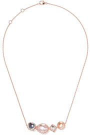 Larkspur & Hawk Sadie rose gold-dipped quartz necklace