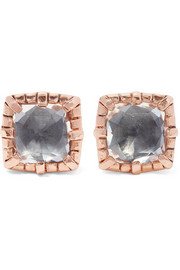 Larkspur & Hawk Bella rose gold-dipped quartz earrings