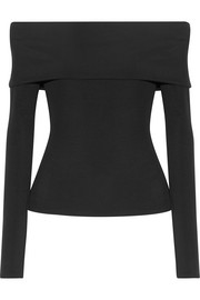 Derian off-the-shoulder stretch-jersey top