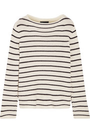 Stretton striped cashmere and silk-blend sweater