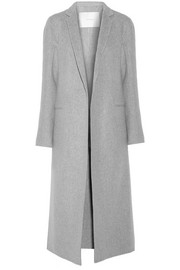 Cashmere and wool-blend coat
