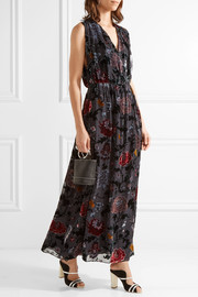 Adam Lippes Wrap-effect floral-print devoré-chiffon maxi dress