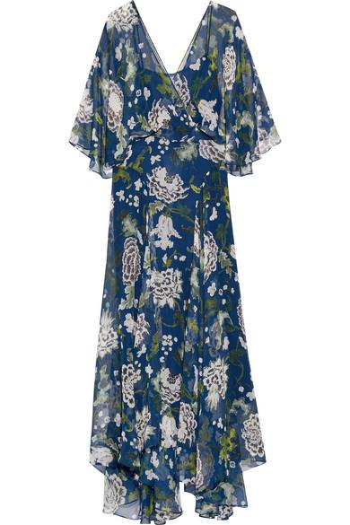 Adam Lippes. Floral-print silk-chiffon maxi dress