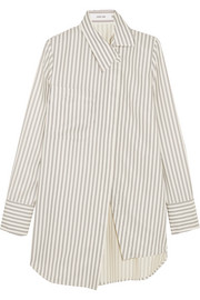 Adeam Asymmetric striped twill shirt