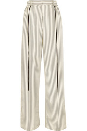 Adeam Striped twill wide-leg pants
