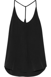 L'Agence Mary silk-crepe camisole