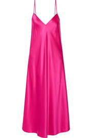 Technopriest silk-satin midi dress