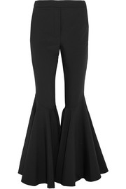 Jacuzzi stretch wool-blend flared pants