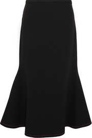 Bee Dee fluted stretch-crepe skirt