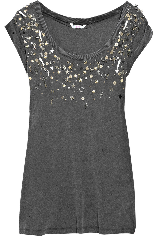 Dark Gray Tell Me A Story Embellished T Shirt Dress Sass Bide Net A Porter