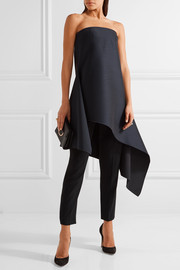 Dion Lee Asymmetric wool-blend shantung mini dress