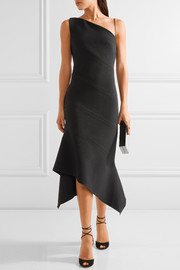Dion Lee One-shoulder paneled stretch-crepe midi dress