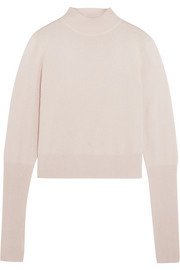 Cutout cashmere turtleneck sweater