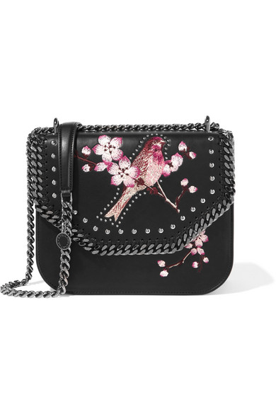 Stella McCartney. The Falabella embroidered faux leather shoulder bag f54d8a2640150