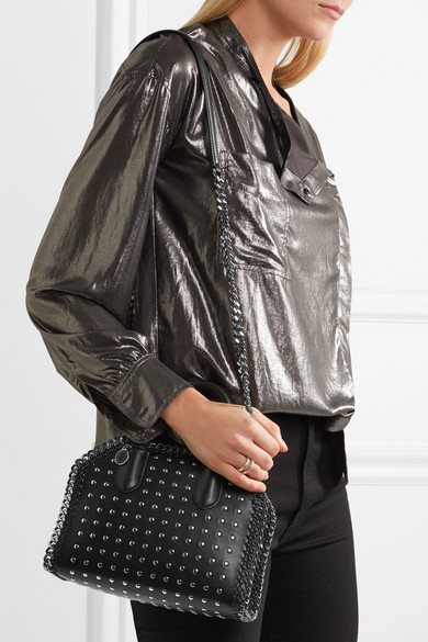 Stella McCartney. The Falabella Box studded faux leather shoulder bag.  £683. Zoom In 8500e2ee44332