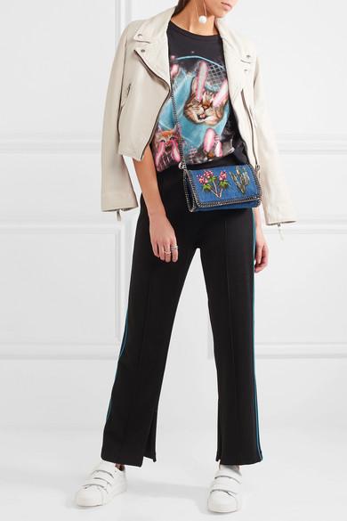 e03de9924aab Stella McCartney. The Falabella embroidered denim shoulder bag