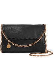 Stella McCartney The Falabella faux brushed-suede shoulder bag