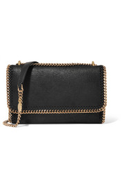 Falabella faux brushed-leather shoulder bag