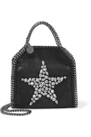 The Falabella tiny embellished faux brushed-leather shoulder bag