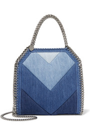 Falabella paneled denim shoulder bag