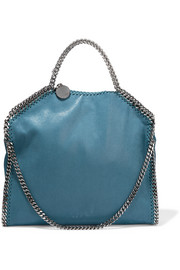 Stella McCartney The Falabella medium faux brushed-leather shoulder bag
