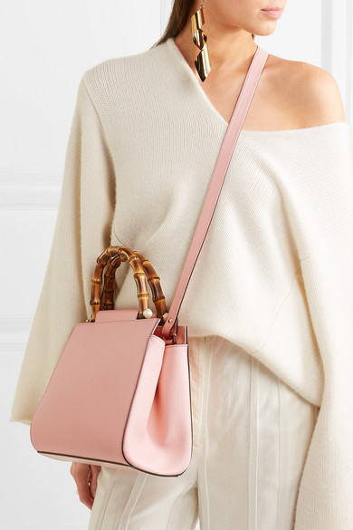 172c464e9 Gucci. Nymphaea Bamboo small leather tote. $2,100.00. Zoom In