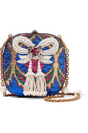 Gucci Broadway embellished metallic brocade clutch