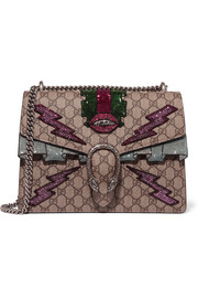 Gucci Dionysus medium appliquéd coated canvas shoulder bag