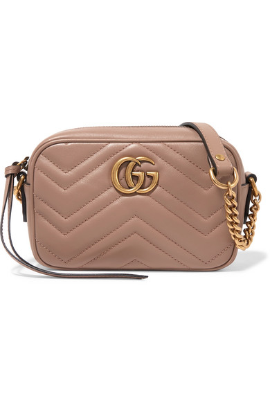 gucci female gucci gg marmont camera mini quilted leather shoulder bag blush