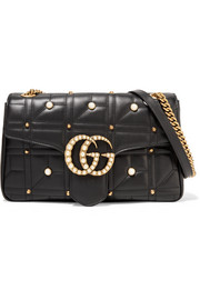 GG Marmont 2.0 medium embellished quilted leather shoulder bag